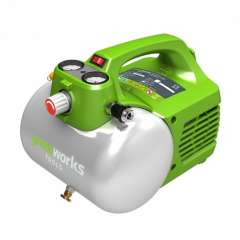 GREENWORKS 230V compressor 6 liter