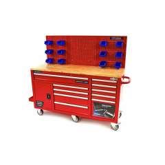 HBM XXL rode gereedschapswagen / werkbank 186 cm