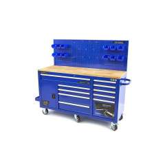 HBM XXL blauwe gereedschapswagen / werkbank 186 cm