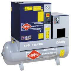 AIRPRESS 400V schroefcompressor combi Dry APS 3 Basic