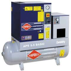 AIRPRESS 400V schroefcompressor combi dry APS 5.5 basic