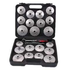 23-delige set aluminium oliefilterdoppen