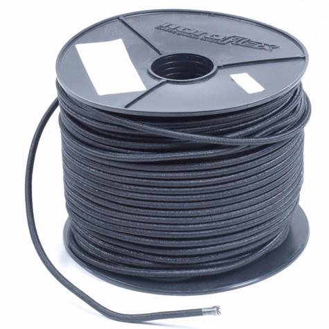 Huismerk Elastiek Pe 6mm zwart (per meter)